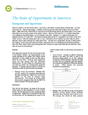 Immigrants and Opportunity