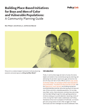 Building Place-Based Initiatives for Boys and Men of Color and Vulnerable Populations: A Community Planning Guide