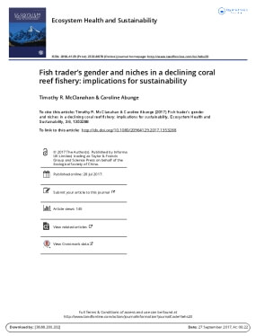 Fish Trader's Gender and Niches in a Declining Coral Reef Fishery: Implications for Sustainability